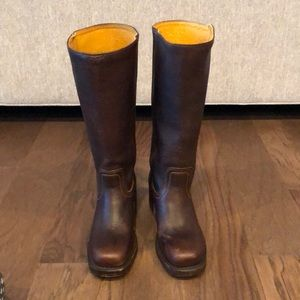 Frye Women's CAMPUS 14L Blazer Brown Boot W/Box.